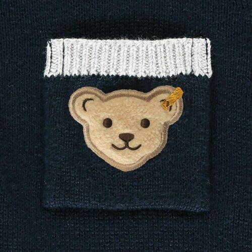 l002022119 Taille 86-104 NEUF Steiff Garçon Coton Stricker Hoodie marine Art