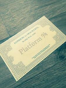 Harry Potter Hogwarts Express Train Ticket Replica Wedding Party