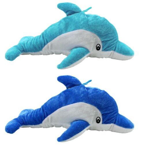Plüsch Delfin ca. 35 cm lang - blau und hellblau - Stofftier Kuscheltier