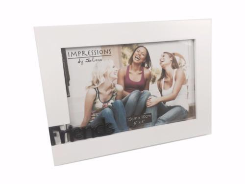 White Friends Photo Picture Frame Gift With 3d Letters 6\