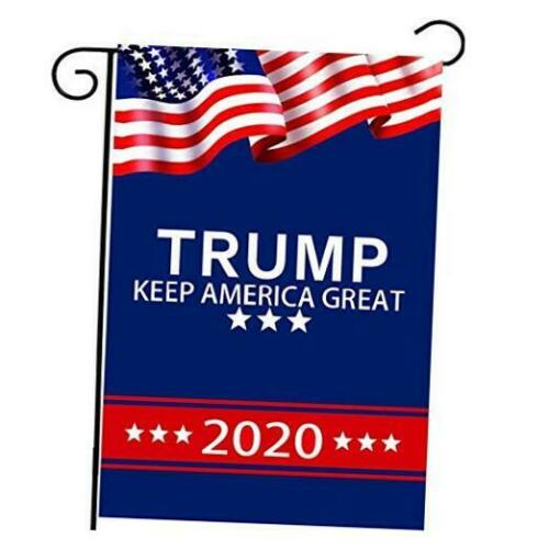 Double-Sided Printing Th Donald Trump 2020 US American Presidential Garden Flag