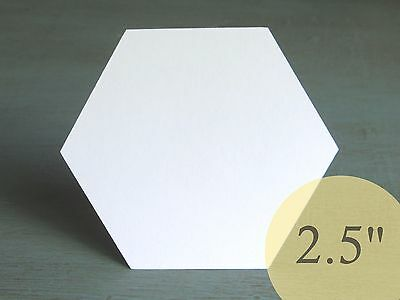 "100 Hexagons 2-1//4/"" HIVE PAPER PIECES English Paper Piecing EPP Quilt Templates"