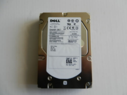 """1 of 1 - LOT OF 5 DELL   15K.7  300GB 15K SAS 3.5"""" HDD  NO CADDY SUITABLE FOR R610 R710"""