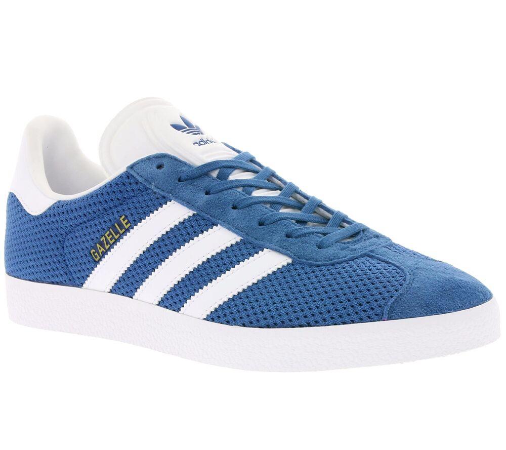 Adidas Originals Gazelle Homme UK 7 bleu Baskets Baskets Chaussures De Sport BB2757-