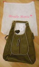 Blondie manía de Cuero Suave Bolso Verde Oliva-usado solo una vez-Lujoso £ 169