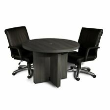 Mayline Aberdeen 42 Round Conference Table In Gray Steel Laminate