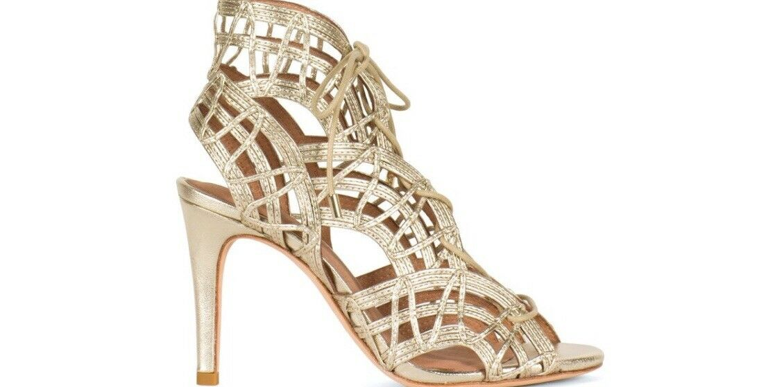 Joie Joie Joie Leah Lace-Up Sandals,bianca oro ff11ef