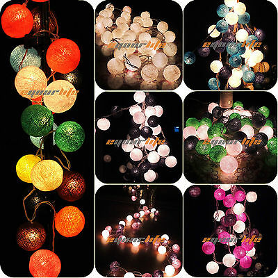20/35 COTTON BALL FAIRY LED STRING LIGHTS WEDDING PARTY PATIO Christmas DECOR