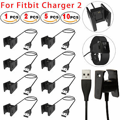 For Fitbit Charge 2 Charger Replacement + 4Ft USB Chargers