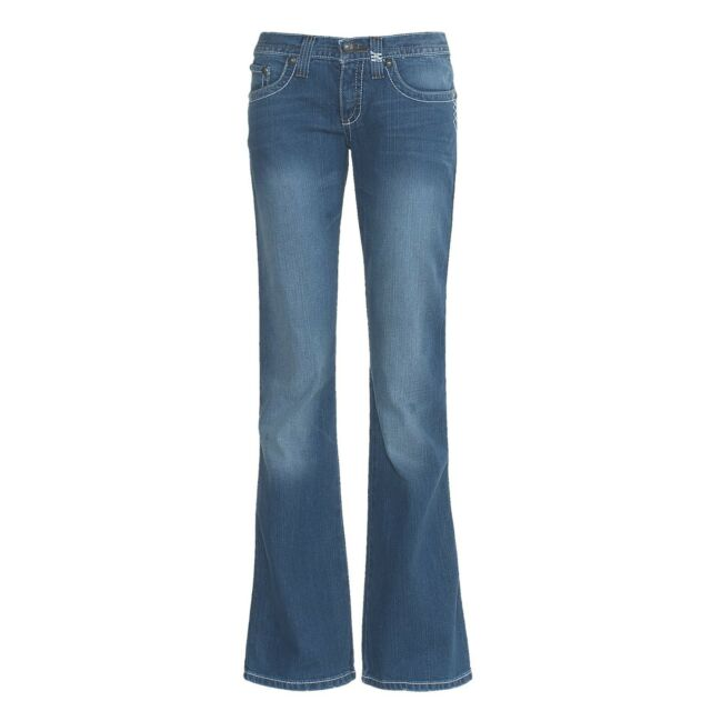 New $100 Cruel Girl Women's Marla Medium Stretch Denim Jeans Flare Leg Low Rise