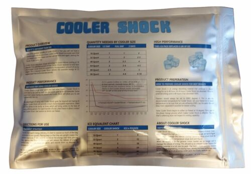 """3 Cooler Shock Lg Reusable Cooler Ice Packs Replace Ice Fill /& Save 10/"""" x 14/"""""""