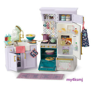 American Girl Doll New Kitchen Cuisine Stove Frig Play Food 3 Day Ship Playset 887961866773 Ebay