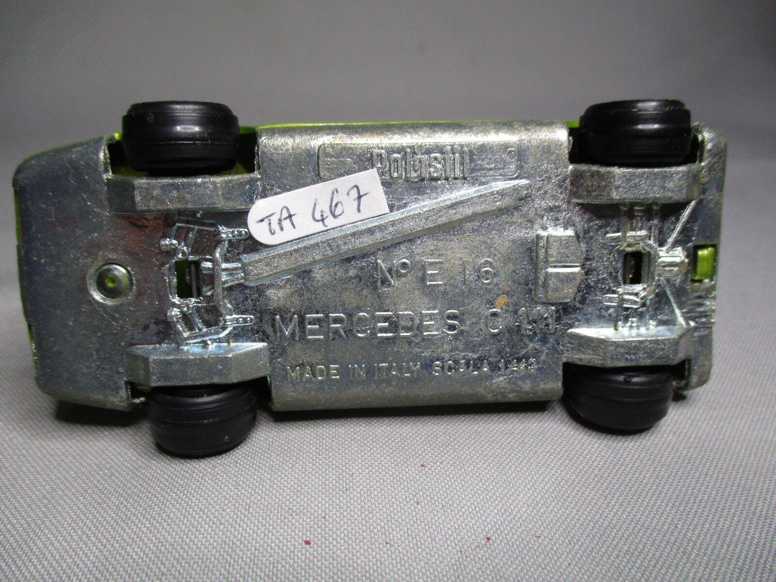 TA467 POLISTIL MERCEDES C111 Ref Ref Ref E-16 E16 1 43 BEL ETAT 290d4f