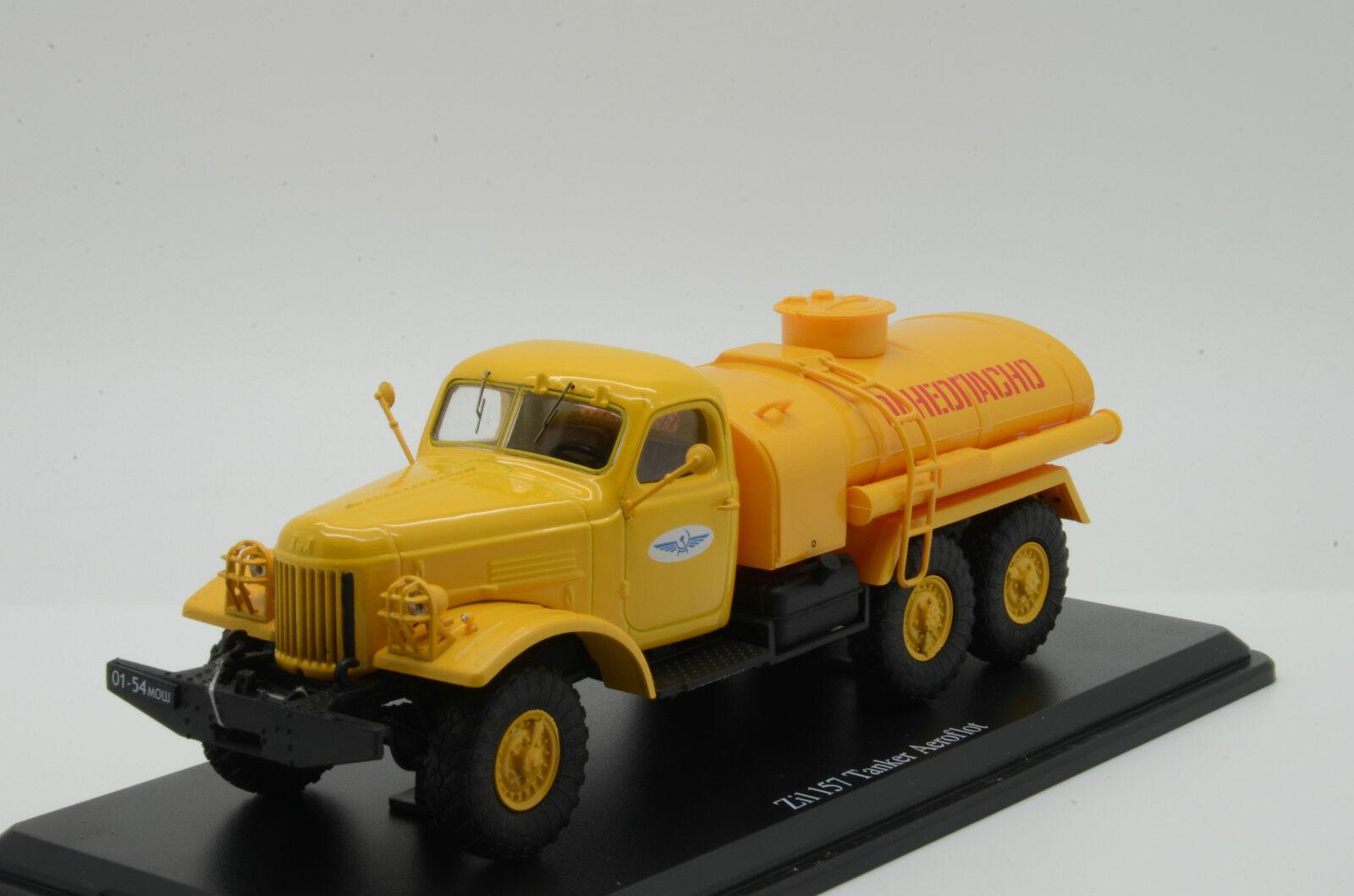 Muy RARO    ZIL 157 camión cisterna Aeroflot SSM Ruso USSR 1 43