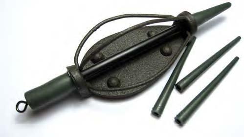 Behr Fishing Method Feeder mit Anti Tangle Sleeves matt green