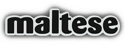 Pet Word Magnets: MALTESE | Dogs | Malty | Great For Cars, Trucks, Refrigerators
