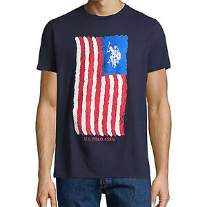 U-S-Polo-Assn-Mens-Crew-Neck-Short-Sleeve-Graphic-T-Shirt-Red-or-Blue-2XL