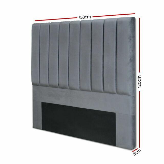 Artiss Queen Size Fabric Bed Headboard, Artiss Queen Bed Head Charcoal