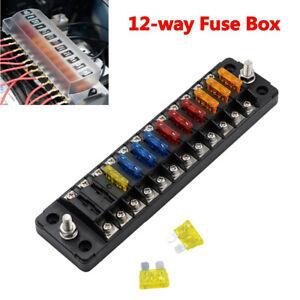 rv fuse box covers 12 way multi input multi output fuse box with protective cover for  fuse box with protective cover