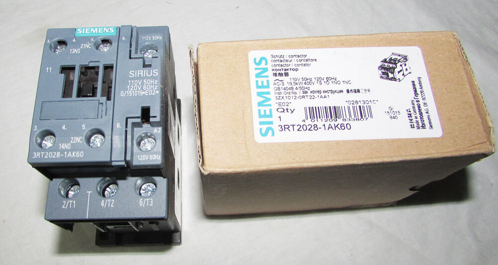 ***NEW TAKE OUTS*** SIEMENS 3RT1 924-5AV61  480 VOLT CONTACTOR COIL 480 VAC 60Hz