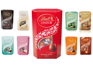 Details About Lindt Lindor Milk Chocolate Truffles Cornet 200g All Flavours Christmas Gift Uk
