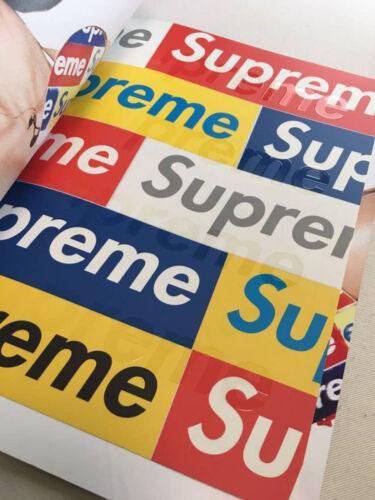 Supreme Book Vol 3 Box Logo Stickers sheet magazine catalog lookbook