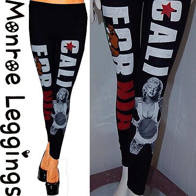 Marilyn Monroe Leggings with California Republic & Stretch Cotton S~3XL