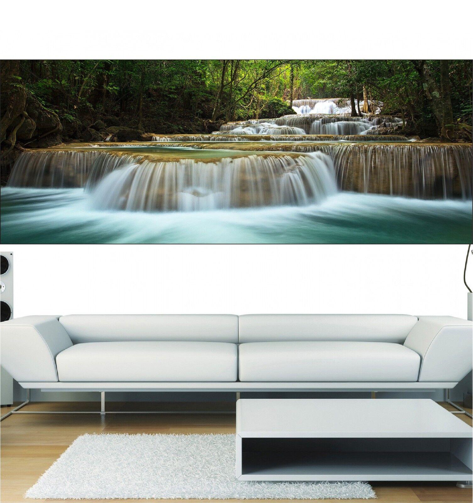 Papel pintado panorámica Cascada de agua 3692 Arte decoración Pegatinas