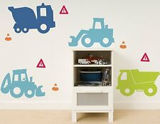 DIGGER Wall Decals Trucks Construction Room Decor Stickers Dump Tractors 1203