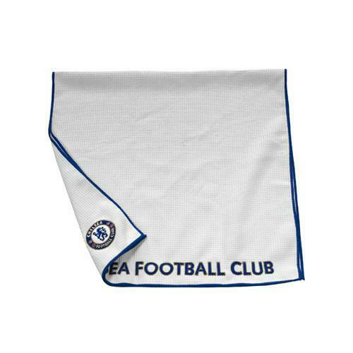 Chelsea Fc Aqualock Caddy Towel White & Blue Square Sports Golf Football New