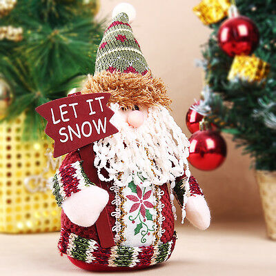 Indoor 3 Styles Christmas Santa Claus Snowman Deer Standing Decoration