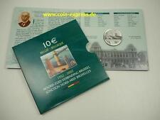 *** 10 EURO Gedenkmünze BELGIEN 2002 PP Nord Süd Verbindung Belgium Coin Münze *