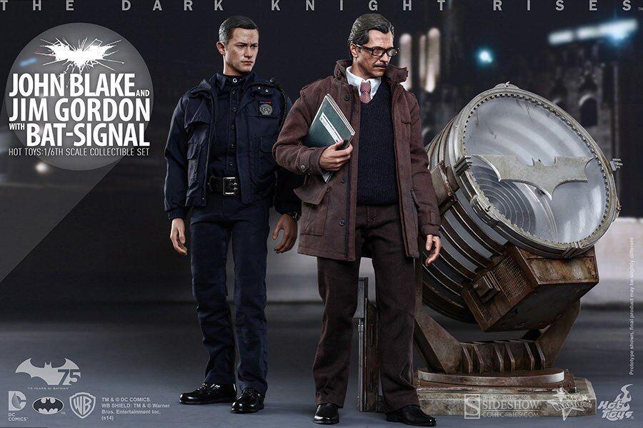 Figure Hot Toys The Dark Knight Rises John Blake Jim Gordon W Bat-Signal JP