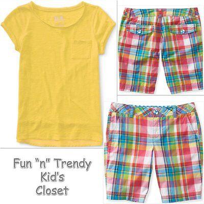NWT PS Aeropostale Kids Boys Size 7 8 Tee Shirt /& Plaid Shorts 2-PC OUTFIT SET