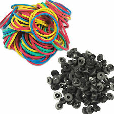 100 Color TATTOO machine RUBBER BANDS 100 Armature A-Bar Black Nipples grommets