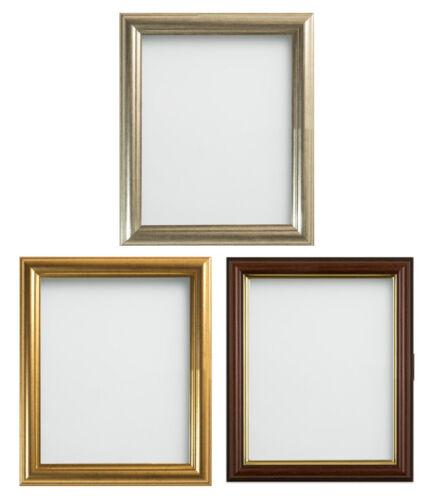 Frame Company Eldridge Range Gold Silver or Mahogany Effect Picture Photo Frame