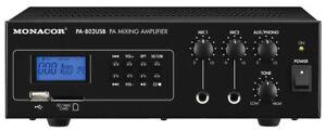 Monacor-PA-802-USB-Amplificador-Mezclador-Ela-Mono-con-Integrado-Reproductor-de