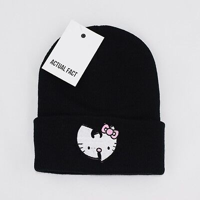 Actual Fact Joey BadA$$ Badass Embroidered Hip Hop Roll Up Black Beanie Hat