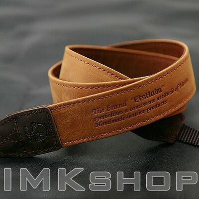 NEW MATIN Vintage-30 TAN Leather Camera Strap for Canon Nikon Sony Fuji DSLR SLR