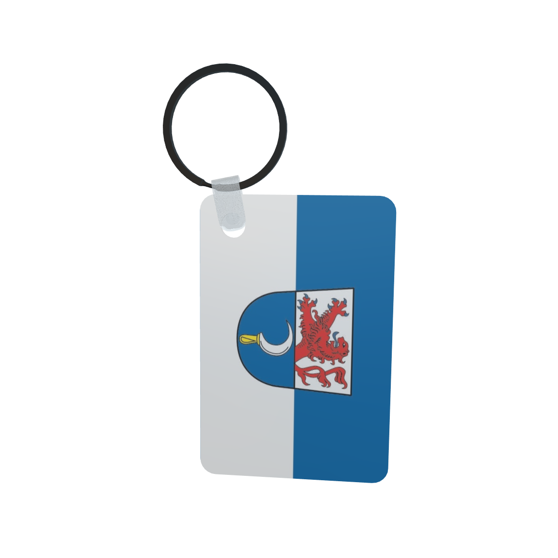 Schlüsselanhänger Flagge Fahne Schweiz-Deutschland Alu 40 x 57 mm