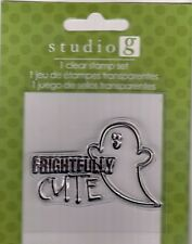 Frightfully Cute Ghost Clear Stamps Studio G    BO