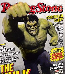 ROLLING STONE #1234 MAY 7, 2015 THE HULK DONALD FAGEN GAME OF THRONES JOAN JETT