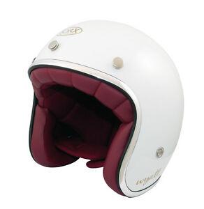 Casque-casco-helmet-jet-TORX-WYATT-blanc-Taille-XS-53-54-VINTAGE-cafe-vespa-CE