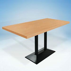 5x bistrotische eckig berlin doppelgestell gusseisen tischgestell gastro tisch. Black Bedroom Furniture Sets. Home Design Ideas