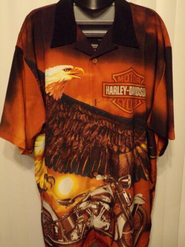 Harley-Davidson Button Up Collared T-shirt 3XL