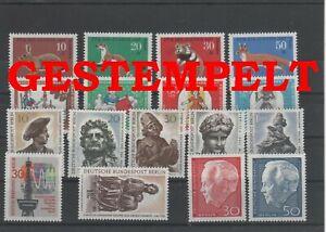 Germany-Berlin-vintage-yearset-1967-Postmarked-Used-complete-More-Sh-Shop