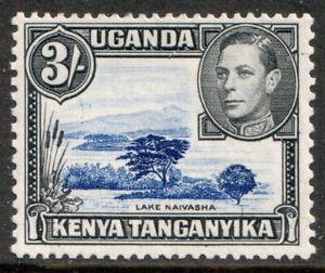 Kenya-Uganda-and-Tanganyika-KGVI-1938-3-Ultramarine-Black-SG147-Mint-MLH