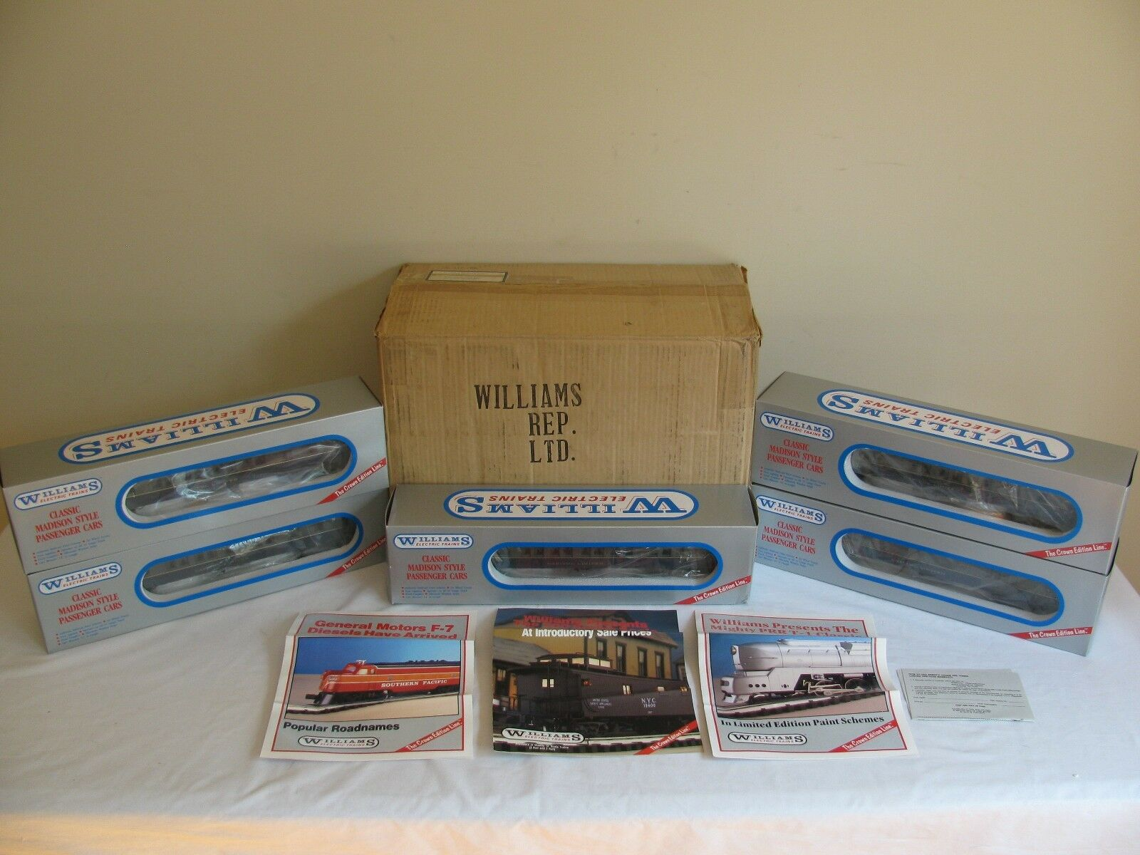 Williams O Scale Madison Heavyweight Baltimore & Ohio 5 Car Passenger Set NOS