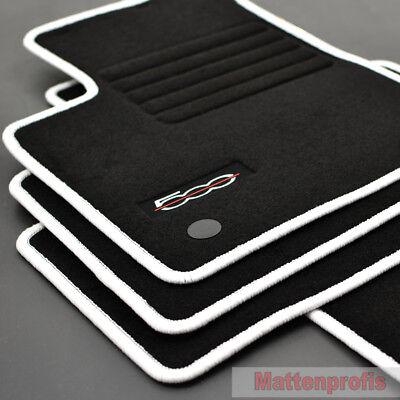 Pflichtbewusst Mp Velours Edition Fußmatten Für Fiat 500 + 500 C Cabrio Ab Bj. 2013 - Weiss Ungleiche Leistung