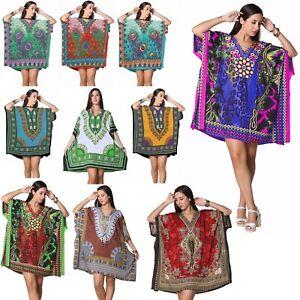 Short Long Kaftan Dresses for Women Maxi Gown Cover up Caftan Kimono Dresses